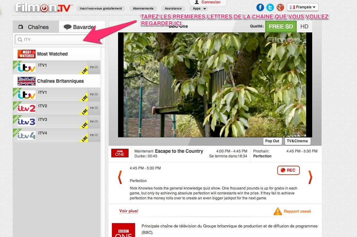 Tv anglaise en ligne